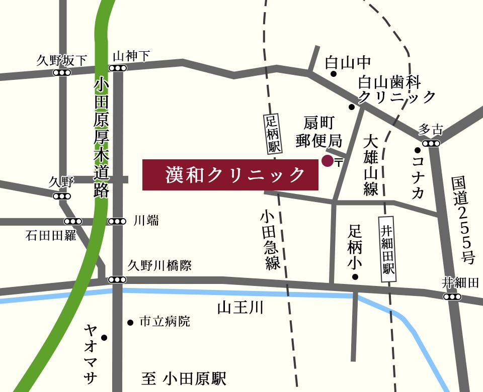 緩和クリニック周辺地図